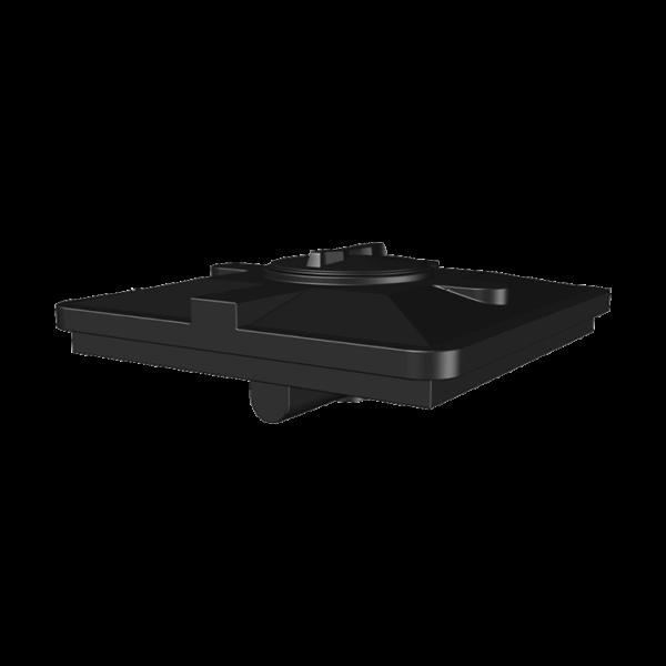 Бак д/душа Aкватек 120 литров (черный) 950х950х305