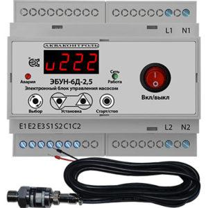 Электронный блок управления насосом на DIN рейку IP20