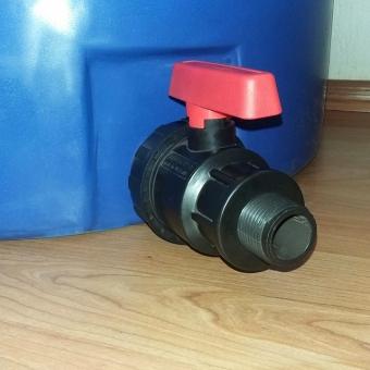Кран шаровой 2″ пластик