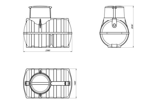 Емкость подземная «Rostok» U 3000л oil