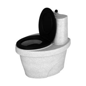 Туалет торфяной «Rostok» белый гранит