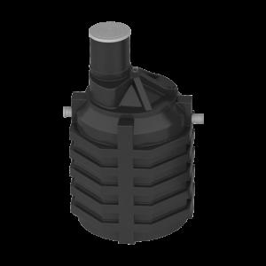 Емкость под септик 3 куб.м (с вход, выход патрубком и перегор.) Акватек